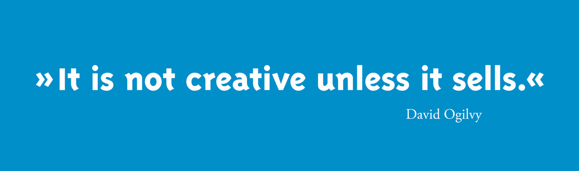 Header - Its not creative unless it sells